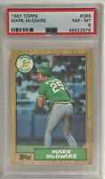 1987 Topps #366 Mark McGwire Oakland A's PSA Graded NM-MT 8 RC