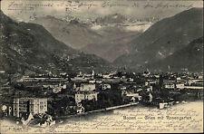 Bozen Trentino Südtirol Italien 1902 Gries mit Rosengarten Verlag Moser gelaufen