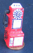 1:12 Scale Dolls House 1950's Style Red Pay Phone Shop Cafe Accessory Telephone