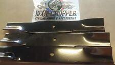 """Dixie Chopper OEM Mower Blade Set of 3 48"""" ZEE MOWERS 301068"""