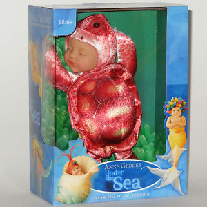 ANNE GEDDES DOLLS 'Under the SEA' collection NEW in Box BABY RED TURTLE Doll 9''