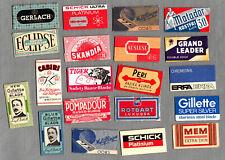 collection of vintage  Razor Blades, Rasierklingen, Lame de rasoir