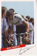 CYCLISME carte  cycliste MARC DIERICKX équipe PDM 1986