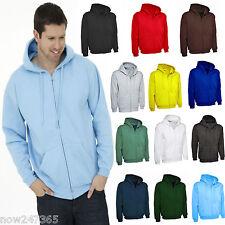 Men's Premium Zip-Up Plain Hoodie Sweatshirt Jacket Size XS to 4XL New