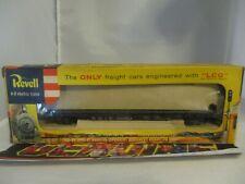 """""""Vintage"""" HO Gauge Revell ERIE 4030 Black FLATBED CAR+ORIGINAL BOX 1956"""