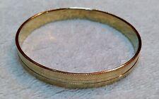Crosshatch Etched Design Bangle Bracelet