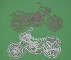 Motorbike, Motorcycle Metal Cutting Die, Card Making, Crafts Male *UK Seller* A7