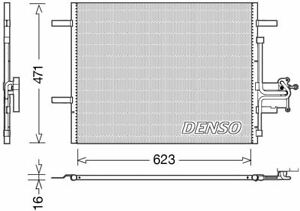 DENSO AIR CON CONDENSER FOR A VOLVO XC60 CLOSED OFF-ROAD VEHICLE 3.2 175KW
