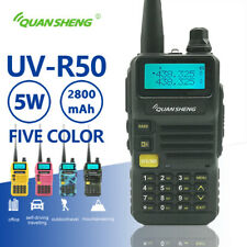 Quansheng UV-R50 Walkie Talkie UHF VHF Dual Band 5W Two-way Radio 2800mAh Radio