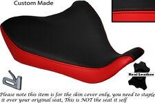Brillante Rojo Y Negro Custom Fits Yamaha Mt 07 13-15 Frontal De Cuero Funda De Asiento