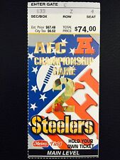 TOM BRADY 2002 AFC CHAMPIONSHIP GAME TICKET PATRIOTS AT STEELERS 02-27-02 RARE!!