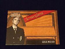 Leslie Nielsen Airplane Naked Gun 2011 Panini Americana Screen Gems Insert Card