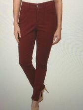NWT NYDJ Not Your Daughters Jeans CLARET RED SLIM FIT $130 Samantha Size 8P