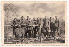 Gruppo di foto soldati tigoda posizione 1943 in caso di Leningrado IIWW!