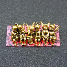 Fashion Betsey Johnson Gold Alloy Enamel Cute Angel Boys Charm Brooch Pin Gift