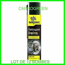 Lot de 12 bombes nettoyant degraissant frein bardahl 600ML