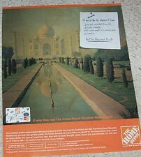 2007 ad page - MasterCard credit card Taj Mahal Home Depot rewards Print ADVERT