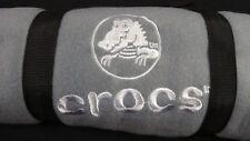 CROCS Fleece Throw Blanket Embroidered Logo Shoes Alligator Car Travel GRAY NEW