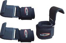 ROX Gym Weight Lifting Hooks Straps Hand Bar Wrist Brace Support Gloves Grip