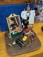 Disney Parks Self Portrait Mickey Mouse and Walt Disney Figurine New w/ Box