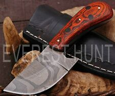 EVEREST HUNT CUSTOM HANDMADE DAMASCUS STEEL HUNTING CAMP SKINNER KNIFE B9-1890