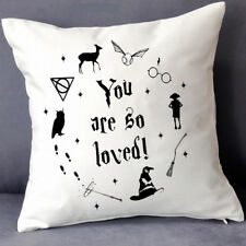 Harry Potter You are so loved Witch Hat Owl Elf Deathly Hallow Cushion Covers 18