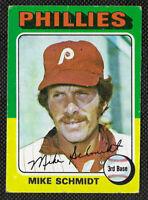 1975 Topps # 70 Mike Schmidt VG-VGEX Philadelphia Phillies. HOF 3rd Baseman.