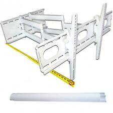 TV LCD LED TFT Wandhalterung Halterung Schwenkbar Doppelarm für TV bis 70kg weiß