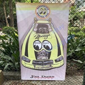 Mooneyes Banner Jim Dunn Racing Flag Dodge Funny Car Tapestry NHRA Poster 3x5ft