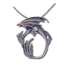 MOON DRAGON Fairy Necklace Faerie Pendant Amy Brown faery