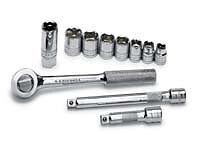 """SK Tools 94512 11 Pc. 3/8"""" Dr 6 Pt Sae Socket Set"""