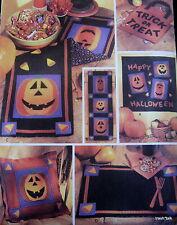 Halloween Jack O Lantern Wallhanging Quilt tablerunner pattern trick treat bag
