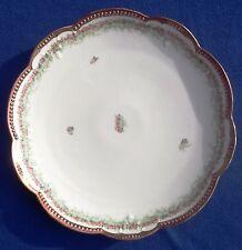 Antique 6 Piece Set AK France Limoges Scalloped Edge Cake & 5 Desert Plates