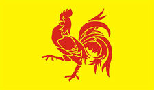 5ftx 3ft WALLONIEN (COQ WALLON) FLAG BANNER DECORATION WITH FREE UK POSTAGE