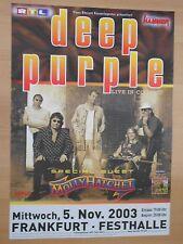 Deep PURPLE 2003 Francoforte ORIG. CONCERT POSTER 84 x 60 cm