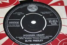 """ELVIS PRESLEY Wooden Heart / Tonight is so right for love Ex  RCA 1960 UK 7"""""""