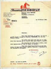 FACTURE BRASSERIE PIEDBOEUF  JUPILLE 1956