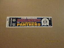 NHL Colorado Florida 1996 SC Playoffs Bumper Sticker