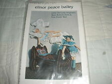 Very HTF Elinor Peace Bailey Pattern-Old Lady BB Dolls & Four Poster Bed