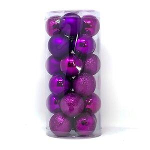 "Allgala Christmas Tree Ornament Balls, 24 PK 4 Style 2.5"" Xmas Balls"