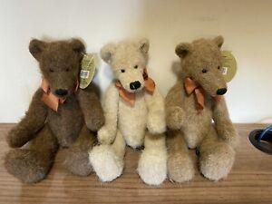 Russ Bears 100th Anniversary Teddy Bears Collector's Edition x 3