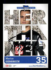 Marius Gersbeck Autogrammkarte Hertha BSC Berlin 2013-14 Original Sign+A 162202