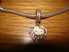 KAY JEWELERS CHARMED MEMORIES SANRIO HELLO KITTY HEART DANGLE STERLING SILVER