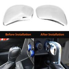 2Pcs Car Gear Shift Knob Cover for VW POLO CC Golf 7 Passat Jetta MK6 Silver DY
