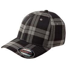 FLEXFIT Structured TARTAN PLAID Golf Hat FITTED S/M L/XL Sport Baseball Cap 6197