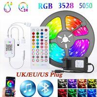 5/10M LED Strip Light 3528 5050 Music Sync Bluetooth App Control Bar Backlight