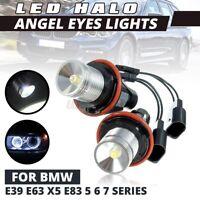 2x 3W Angel Eye Halo LED Light Bulb 6000K For BMW E39 E87 E63 E65 E66 E53 X5