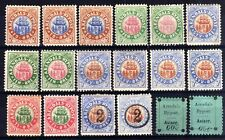 NORWAY LOCALS BY POST: 1885-91 ARENDAL HINGED MINT SELECTION, 18 STAMPS