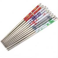 1//5//10 Pairs Chinese Non-slip Design Chop Sti cks Stainless Steel Chopsticks New