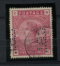 GREAT BRITAIN 1884 scott 108 SG 180 Used CV$220 PERFIN VERY FINE